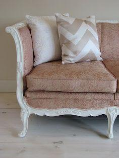 painted vintage sofa