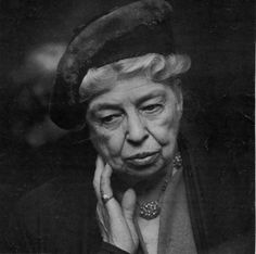 """A woman is like a tea bag- you never know how strong she is until she gets in hot water."" Eleanor Roosevelt"