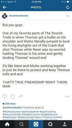 I need people like Newt and Minho. Mostly Newt.