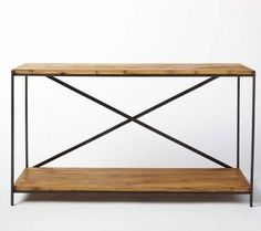 Railroad Tie Console Table - traditional - side tables and accent tables - VivaTerra