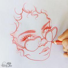 Drawings & Distractions - Heart Of Glass Weekend sketch in progress.