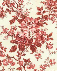 Tudor Rose Fabric Wallpaper, Pattern Wallpaper, Pantone Color, Pantone 2015, Colorful Paintings, Flower Paintings, Tudor Rose, Red Cottage, Paint Shop