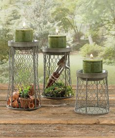 Take a look at this Park Designs | Chicken Wire Candleholder - Set of 3 today!