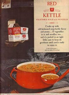 Campbell's Red Kettle Vegetable Soup mix (1963)