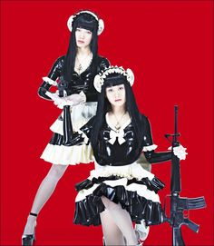 femm-latex-military-maid-outfits