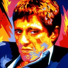 Scarface Tony Montana Pop Art - Pop art is a movement that emerged in the mid-1950s in Britain and in the late 1950s in the United States.