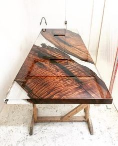 Breathtaking 24 Stunning Resin Wood Furniture www. Wood will eventually warp however well it's sealed. Besides making the wood stronger and weather-resistant, Wood Resin Table, Slab Table, Dining Table, Timber Table, Wood Tables, Into The Woods, Resin Furniture, Furniture Decor, Furniture Outlet