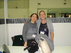 L'editore con la scrittrice per ragazzi e illustratrice Giuseppina Bruno. (© Uff. Stampa, foto M.Mezzetti) —