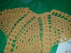 mis teji2  manualidades y reciclado.: blusa tejida  facil de hacer  terminacion en pico ...