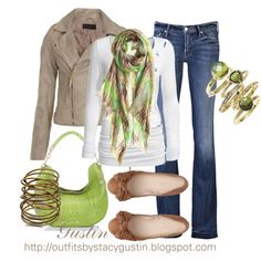 I need more clothes!   green and tan, created by stacy-gustin on Polyvore