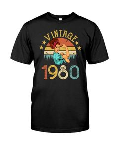 1980 Colour List, Best Mom, Birthday Shirts, Gifts For Mom, Colorful Backgrounds, Unisex, Mens Tops, T Shirt, Phone Cases