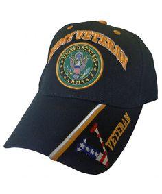 2b6b110a5ea3c Army Baseball Cap US Veteran V American Flag USA Hat United States Army  Veteran V Black Cap CU187WO2WHN