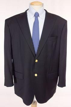 PAUL & SHARK Mens Sport Coat 50 60 XXL Navy Loro Piana Super 120's Wool Blazer #PaulShark #TwoButton