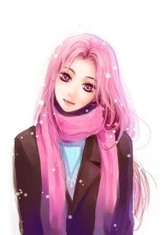 momoi satsuki winter...kawaii