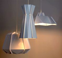 perforated fixtures, geometric designs