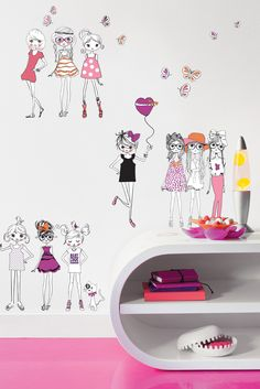 Caselio stickers collection trendy stickers 2 miss for Interieur stickers