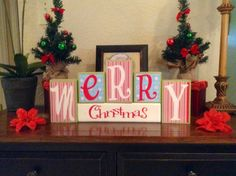 Merry Christmas / Decorative Block Letters / by NicsLoveLetters, $27.00