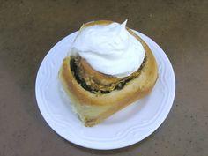 Apple Cinnamon rolls with cream cheese icing.