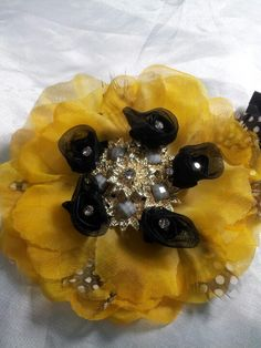 Hair clip. Fascinator. The QueenB Signature Jewelry Collection on Facebook