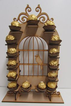Incroyable Birdcage forme Ferrero rocher stand mariage partie pièce maîtresse
