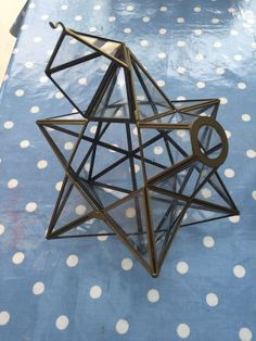 Vintage Glass Geometric Star Light Shade In Home
