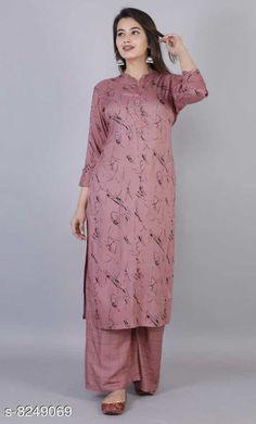 Kurta Sets Women Rayon A-line Self-Design Long Kurti With Palazzos Kurta Fabric: Rayon Bottomwear Fabric: Rayon Fabric: Rayon Sleeve Length: Three-Quarter Sleeves Set Type: Kurta With Bottomwear Bottom Type: Palazzos Pattern: Printed Multipack: Single Sizes: XL (Kurta Length Size: 45 in)  L (Kurta Length Size: 45 in)  M (Kurta Length Size: 45 in)  XXL (Kurta Length Size: 45 in)  Country of Origin: India Sizes Available: M, L, XL, XXL   Catalog Rating: ★4.3 (454)  Catalog Name: Women Rayon A-line Self-Design Long Kurti With Palazzos CatalogID_1376517 C74-SC1003 Code: 045-8249069-2931