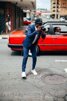 Suit + Sneakers = Winning