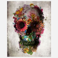 Floral Skull Print, $26, now featured on Fab.