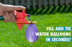 Tie-Not Water Balloon Filler & Tying Tool | @giftryapp
