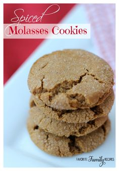 Spiced Molasses Cookies are chewy and full of flavor!