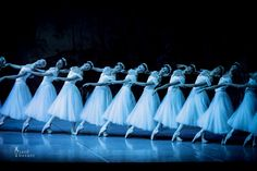 he corps de ballet of The Mikhailovsky Theatre. Second act of Giselle. Attribution-Jack Devant