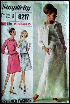 Simplicity 6217  Misses' TwoPiece Dress in Two by ThePatternShopp, $14.00