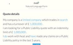 Relatively complex prototype for a public liability application by Ui Patterns, Natural Language, Languages, Public, Search, Quotes, Idioms, Quotations, Searching