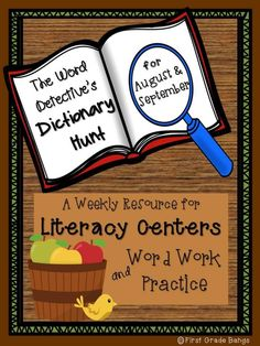 Dictionary Hunts to use in literacy centers for August and September. Students search for weekly topical words in student dictionaries to practice ABC order and general dictionary use skills. (scheduled via http://www.tailwindapp.com?utm_source=pinterest&utm_medium=twpin&utm_content=post104115413&utm_campaign=scheduler_attribution)