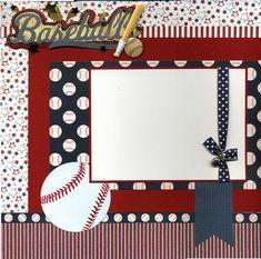 Premade Baseball Scrapbook Page