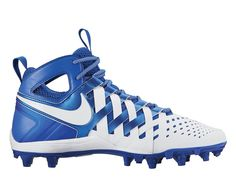 #LacrosseUnlimited #Nike Huarache 5 Lacrosse Cleats White/Royal