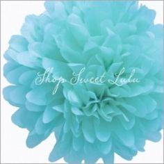 Tissue Paper Pom Pom Kit: Tiffany Blue (aqua) - cirque du bebe shower