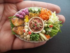 Miniature Thai food best Quality Mango curry (Nam prik mamoung) via Etsy.