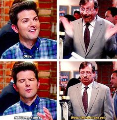 Ben Wyatt quitting his accounting job at an accounting firm. Parks and Recreation ...