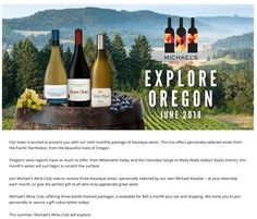 Our team is excited to present you with our sixth monthly package of boutique wines. This trio offers personally-selected wines from the Pacific Northwest, from the beautiful state of Oregon.  Oregon's wine regions have so much to offer, from Willamette Valley and the Columbia Gorge to Walla Walla Valley's Rocks District, this month's wines will just begin to scratch the surface!