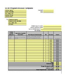 Free Printable Business Invoice Sample  Free Printable Invoice