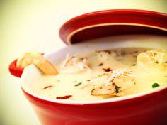 Sopa Gourmet Simples de Camarão Thai