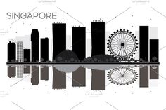 #Singapore #City #skyline by Igor Sorokin on @creativemarket