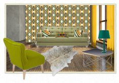 Moodboard created on @olioboard: Marthe wallpaper, Field & Marthe cushions by Parris Wakefield Additions