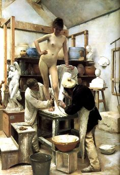 Edouard Joseph Dantan  A Casting (Moulding)