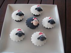 Mossy's Masterpiece - Humorous Christmas sheep cupcakes. I…   Flickr