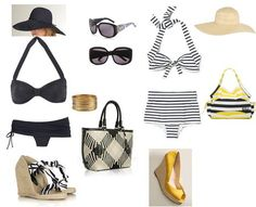 Retro beach outfits - perfect for the stylin Nanni. Cruise Outfits, Beach Outfits, Retro Swim, Elements Of Style, Cute Pins, Beach Look, Summer Accessories, Beach Girls, All About Fashion