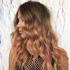 Sunset Blonde Is 2017's Version of Rose Gold, and It's Stunning via @ByrdieBeautyUK