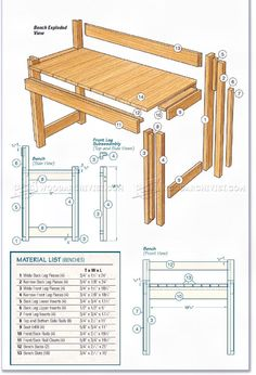 #265 Kitchen Table and Bench Plans - Furniture Plans