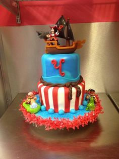 Tammy- I have this ship if you'd want it for cake… I like the red stripe and blue color scheme